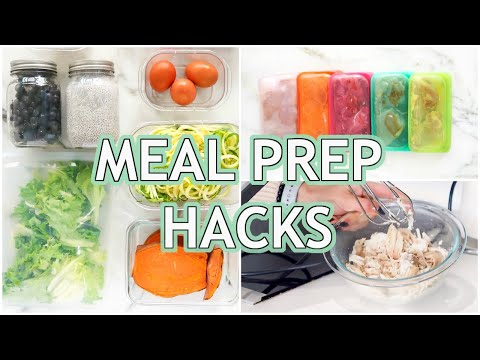 MUST KNOW Meal Prep Hacks For Quick And Healthy Meals!
