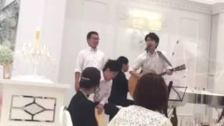 結婚式の披露宴で歌わせてもらいました。 キャッチャーりえさんお幸せに!