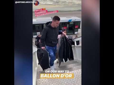 Cómo fue la llegada de los Messi a París donde recibirá su sexto Balón de Oro