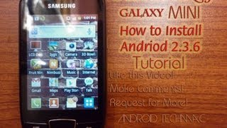 How to Install Android 2.3.6 on Samsung Galaxy Mini Upgrade | In less than 3 minutes