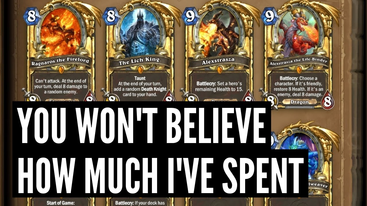 How much does my collection with 300+ Golden Legendaries cost?
