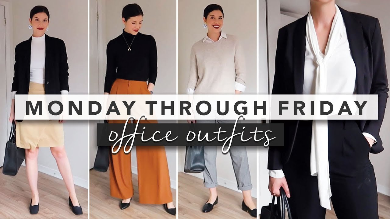 [VIDEO] - Office Outfit Ideas from Monday Through Friday | by Erin Elizabeth 3