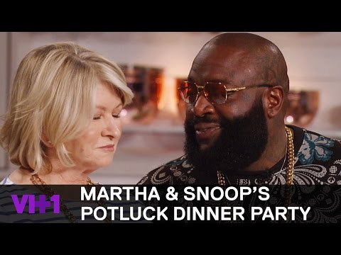 Rick Ross Raises Martha Stewart's Temperature | Martha & Snoop's Potluck Dinner Party