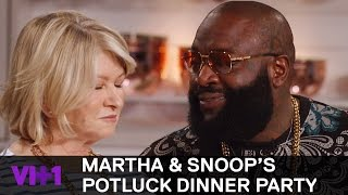 Rick Ross Raises Martha Stewart's Temperature | Martha & Snoop's Potluck Dinner Party