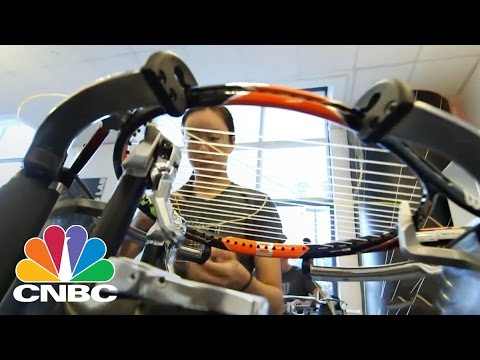 Inside The US Open Tennis Racket String Room | CNBC