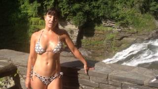 Best hiking in the u.s. Almost 50 YEAR OLD Farm Girl visits Enfield Gorge in Ithaca, New York.