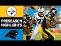 Steelers Vs Panthers NFL Preseason Week 4 Game Highlights mp3