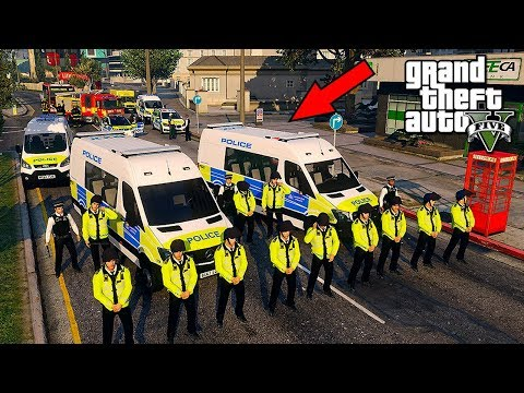 GTA 5 MODS UK POLICE | TSG RIOT MOD | LSPDFR: THE BRITISH WA