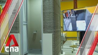 Faster, cheaper building of future bathrooms using 3D-printed technology