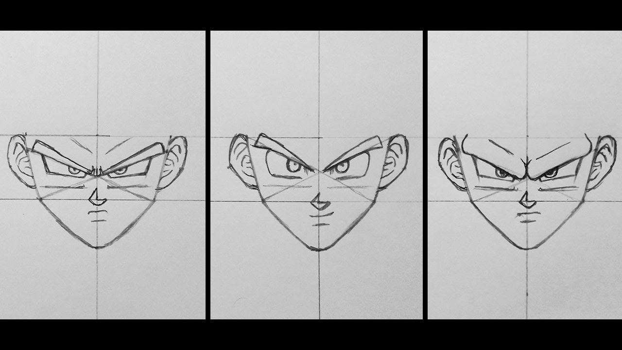 How i draw dragon ball faces tutorial