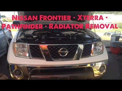 2006 Nissan Frontier radiator removal (walk through )