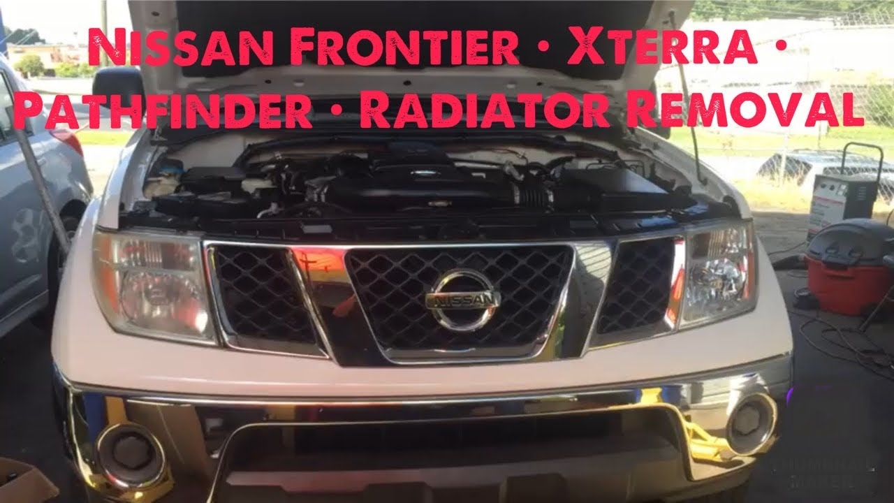 hight resolution of 2006 nissan frontier radiator removal walk through