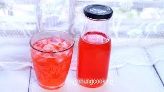 Cách Làm Nước Ngọt Sting Dâu Tại Nhà / How To Make Soft Drink Strawberry Sting