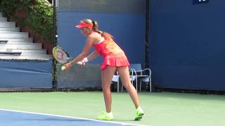 Jelena Ostapenko Defeats Julia Glushko at the USOpen 2015 Qualifiers