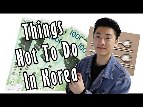 Things You Should NOT Do In Korea