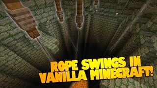 Minecraft Redstone | ROPE SWING in Minecraft [Vanilla] | Move & Swing on Ropes! (Minecraft Redstone)