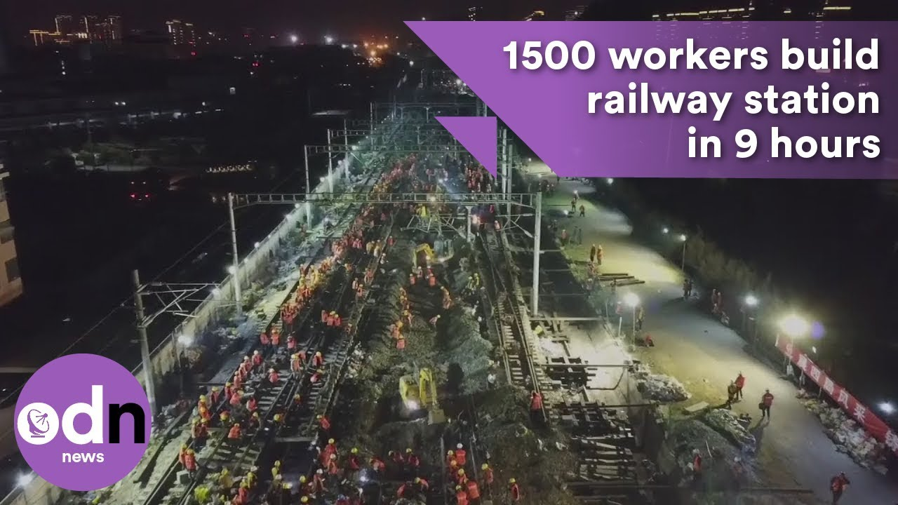 1500 workers build railway station in 9 hours