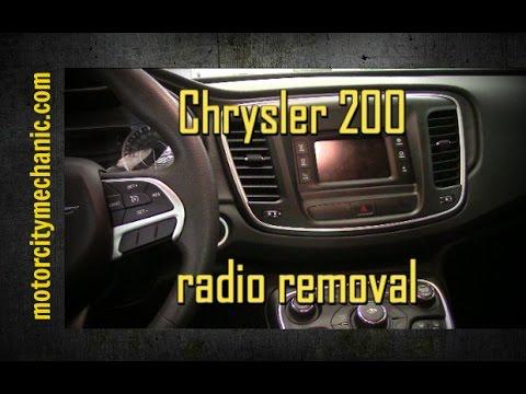 2015 Chrysler 200 radio removal - YouTube