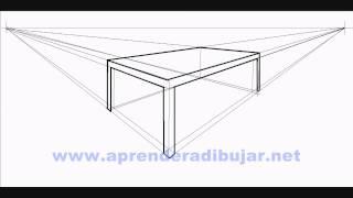 Como dibujar una mesa en perspectiva - Dibujos de mesas