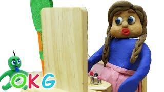 Home Beauty Salon Stop Motion   OKG Kids Cartoons & Baby Videos