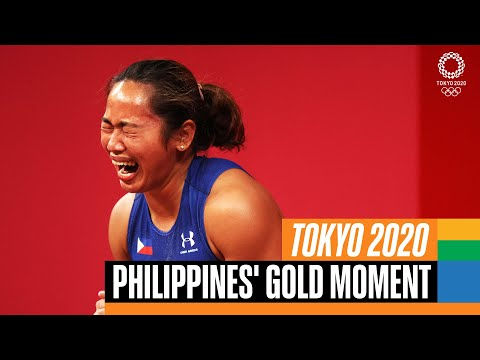 🇵🇭 🥇 Philippines' gold medal moment at #Tokyo2020 | Anthems