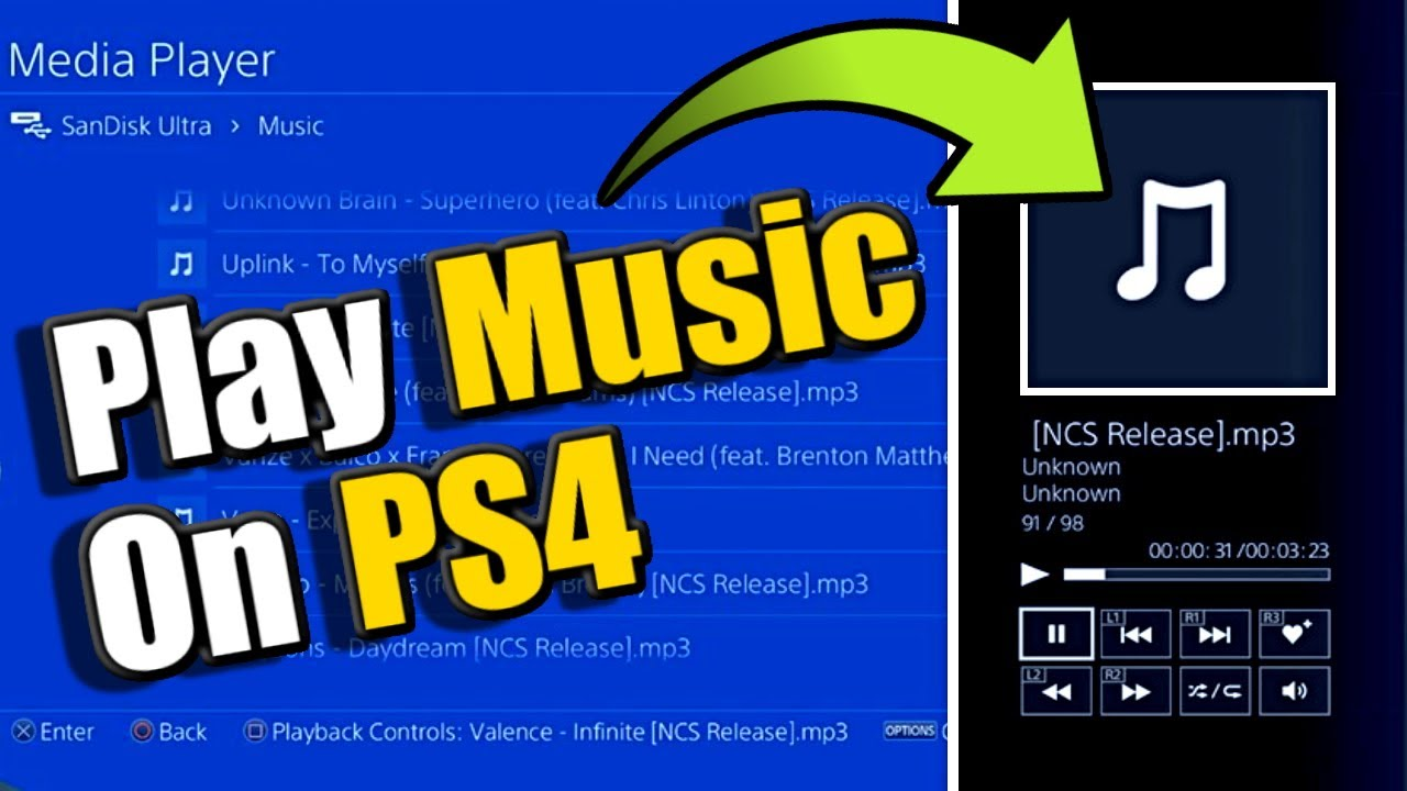How to PLAY MUSIC on PS4 while PLAYING GAMES (PS4 Media Player Tutorial)