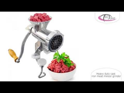 TecTake - Heavy duty cast iron meat mincer grinder