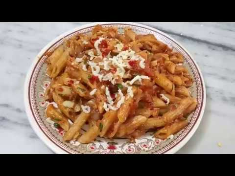 Pasta in Red Sauce/ Indian Style Red Sauce Pasta Recipe...