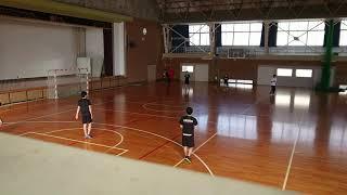 福島高校ハンドボール部 対面パス