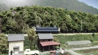 鉄道模型(N)田畑沿いのローカル線を走るEF65+貨車トラ70000形
