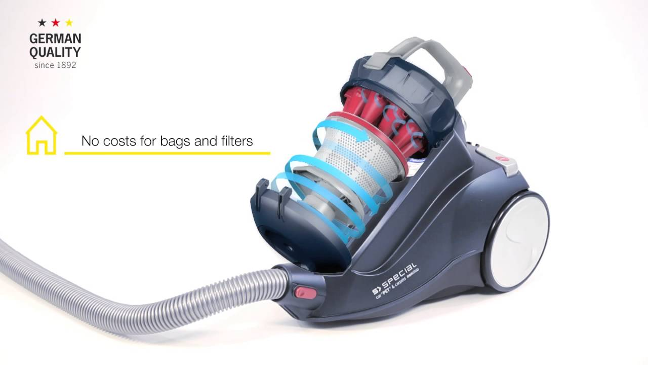 Severin My 7105 Severin Bagless Vacuum Cleaner Special Car Pet Carpets Nonstop Bc7118