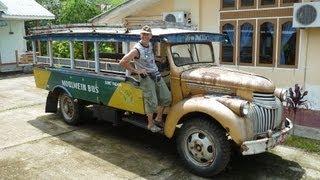 Myanmar ( Burma ) 2013, antique cars in Mrauk U, Rakhine State !