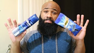 Cheap Shaving Products That WORK | BIC Comfort 3 Blade Razor | Bald Head Shave