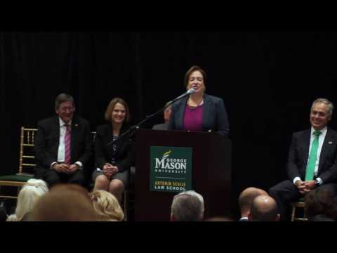 Elena Kagan Remarks at Antonin Scalia Law School Dedication