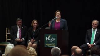 Elena Kagan Remarks at Antonin Scalia Law School Dedication
