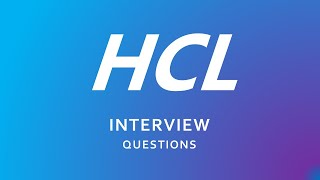 HCL Interview Questions for freshers | HCL | Technical | HR |