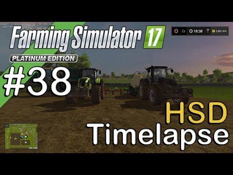 Farming Sim 17 - HSD - Timelapse #38 - Macking Grass and Hay Bales