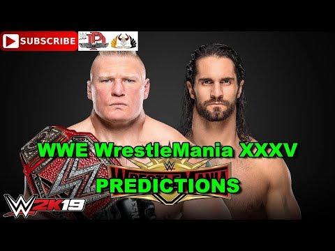 WWE WrestleMania 35 Universal Championship Brock Lesnar Vs. Seth Rollins Predictions WWE 2K19