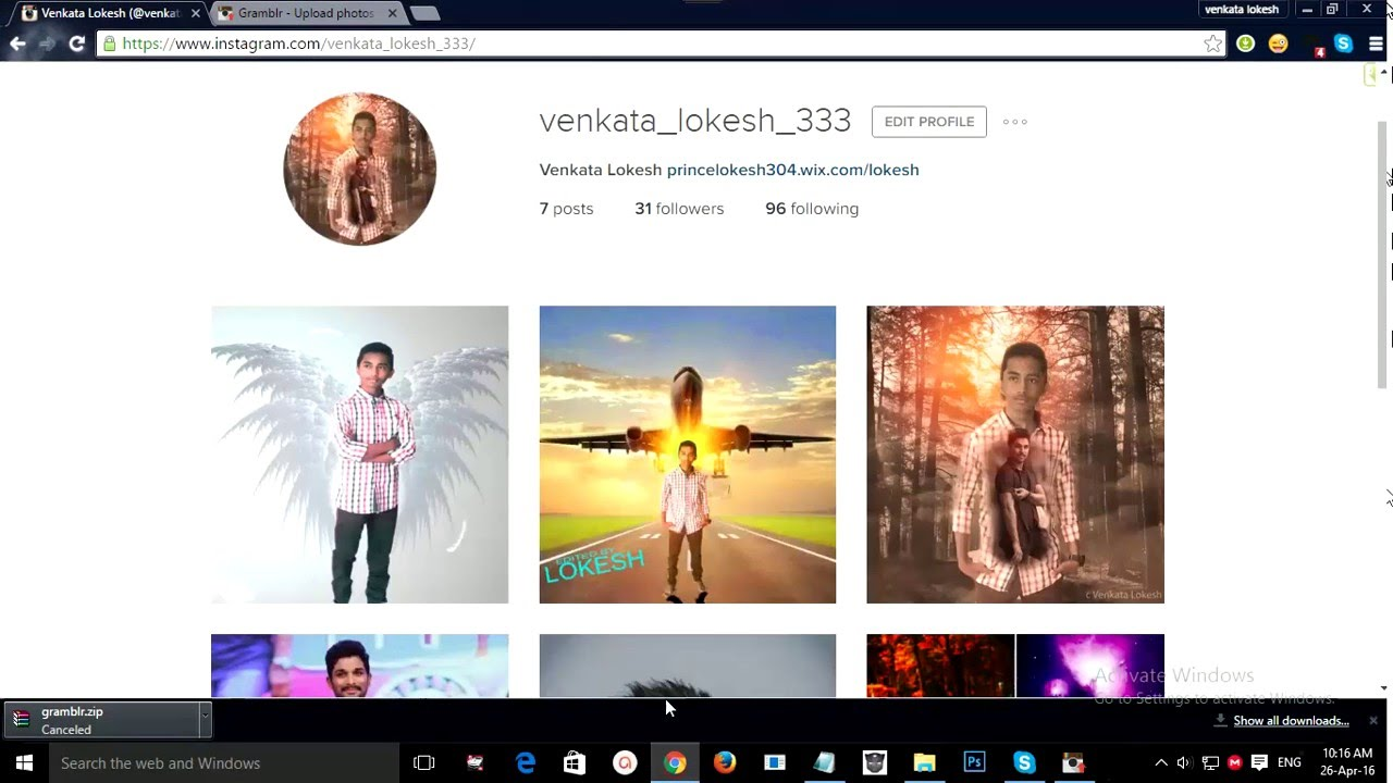 how to post a photo on instagram on  puter   youtube