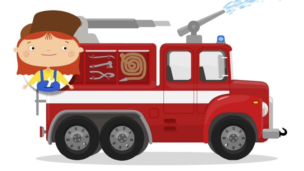 Le Garage De Dr Mcwheelie Camion De Pompiers Dessin Anime