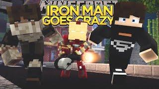 minecraft minevengers ironmans goes crazy