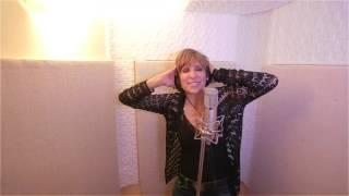 "Karen Egert in the recording  studio -- "" So Tinha De Ser Com Voce"""