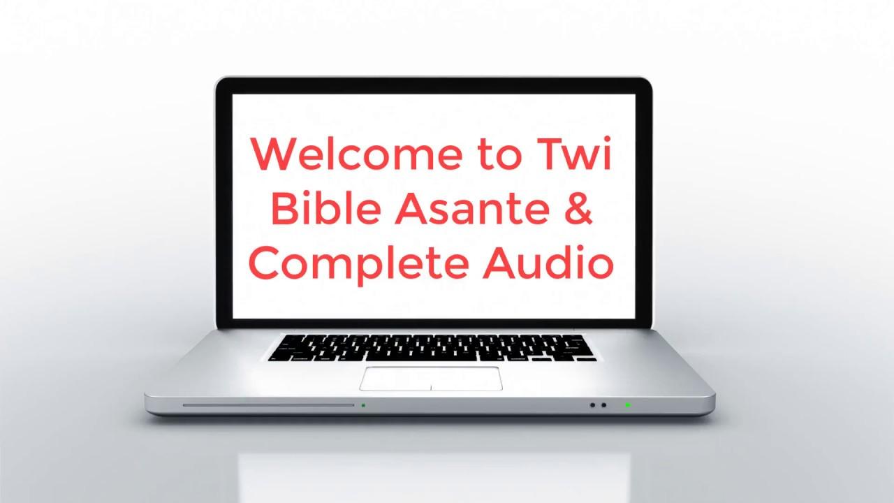 Twi Bible Complete Audio App
