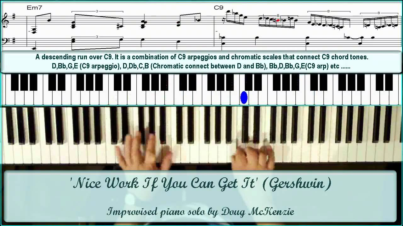 Nice work if you can get it solo jazz piano tutorial youtube nice work if you can get it solo jazz piano tutorial hexwebz Choice Image