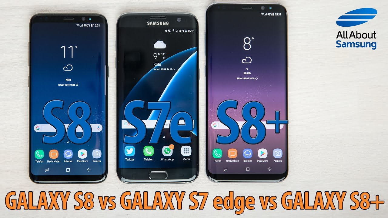 samsung galaxy s8 vs galaxy s8 vs galaxy s7 edge. Black Bedroom Furniture Sets. Home Design Ideas