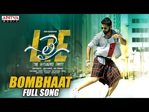 Bombhaat Full Song  Lie Songs  Nithiin , Megha Akash  Mani Sharma