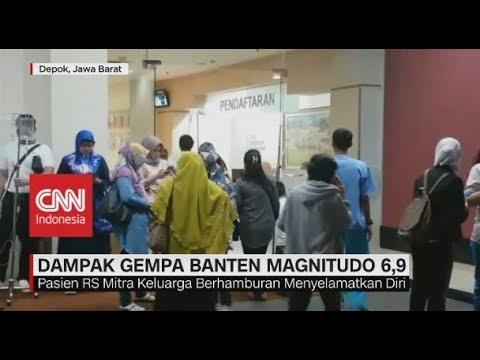 Detik - Detik Kepanikan Warga Saat Gempa Banten Magnitudo 6,9