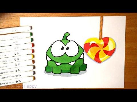 Как нарисовать ам няма с конфетками