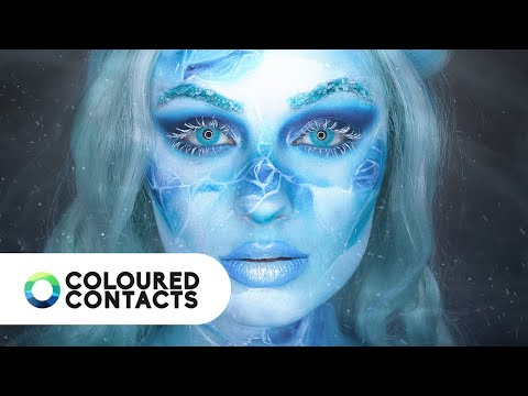 Winter Icy Blue Contact Lenses Tutorial