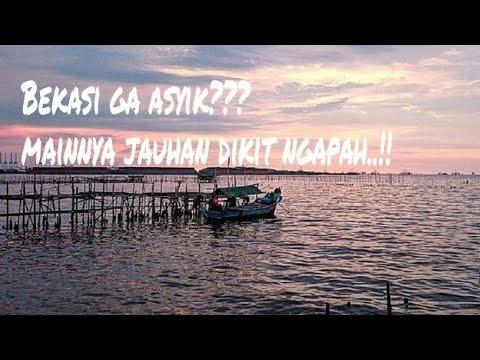 """Tempat Wisata DiBekasi?  Serasa Dipulau Pribadi """"hiden Beach""""Muara Beting Muara Gembong #droneview"""